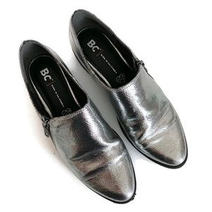 Shoes - Born in California Silver Loafer Shoes Pointed Toe